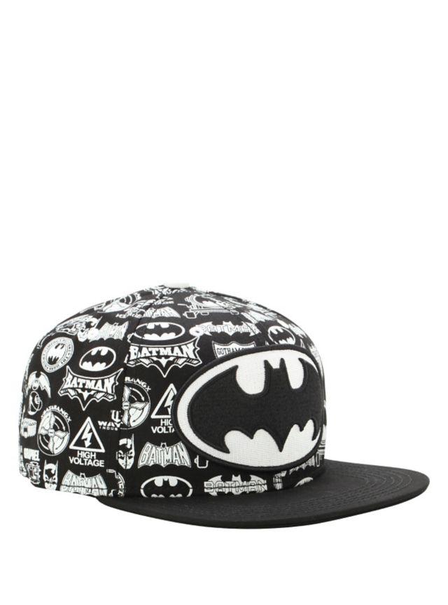 DC Comics Batman Logo Collage Snapback Hat  44248b558dc68