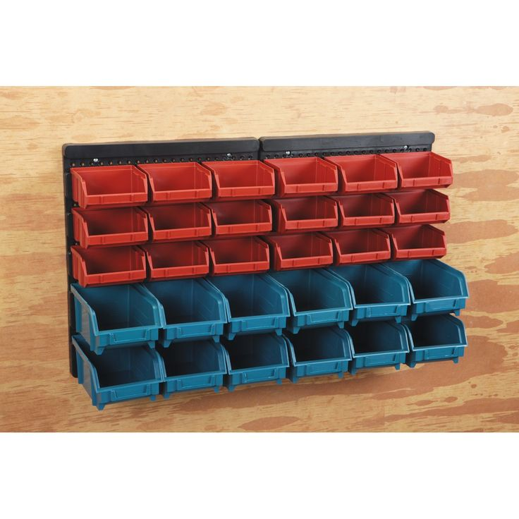 30 Bin Wall Mount Parts Rack  Harbor Freight  would this not be useful for sewing notions, button sorting, bead storage, and of course nails, screws and such