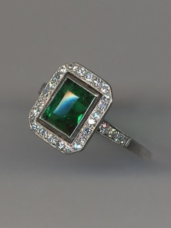 vintage smaragd diamond rings - Google Search