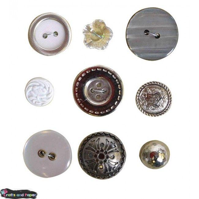 κουμπιά oldies ασημι Υλικά χειροτεχνίας, Decoupage, Scrapbooking