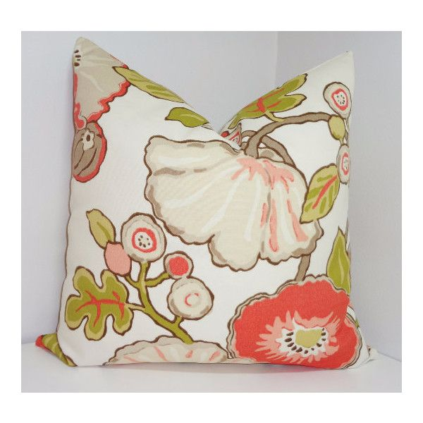Fall Outdoor Pillow Covers Porch Pillow Cover Orange U0026 Lime Green... ($15
