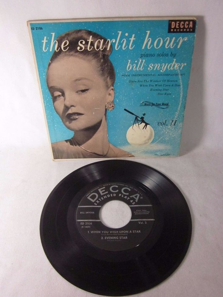 The Starlit Hour - Piano Solos by Bill Snyder - 45 RPM Extended Play Series EP