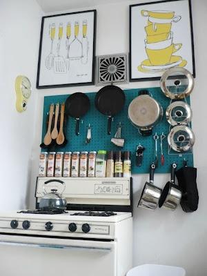 pegboard kitchen organization