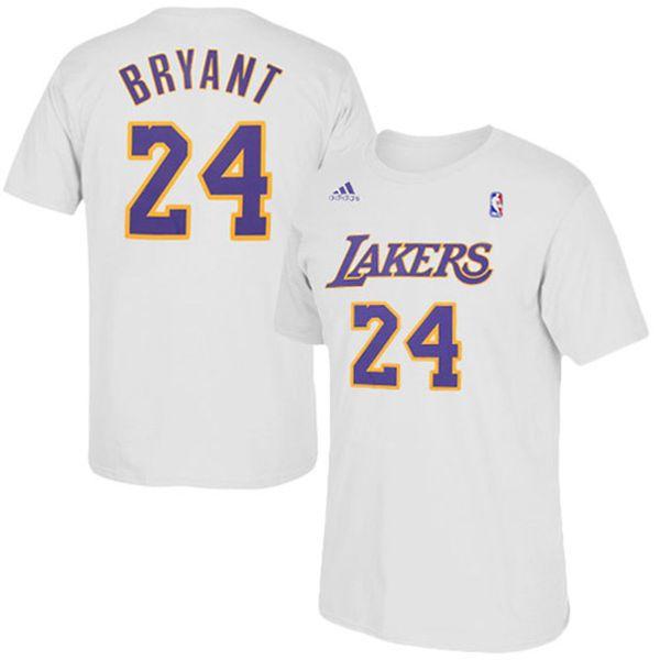 Kobe Bryant Los Angeles Lakers adidas Net Number T-Shirt – White - $27.99
