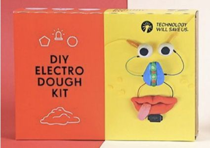 Made by an educational-toy company called Technology Will Save Us, this kit teaches young kids the basics of circuit building by letting them create their own squishy conductible forms.