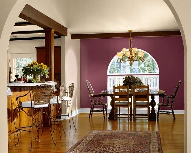 An Arched Accent Wall Creates Drama In This Neutral Dining Room. This  Lively Red Tone Is Gladiola From Sherwin Williams. Reds Are Popular For 2014    Cayenne ...