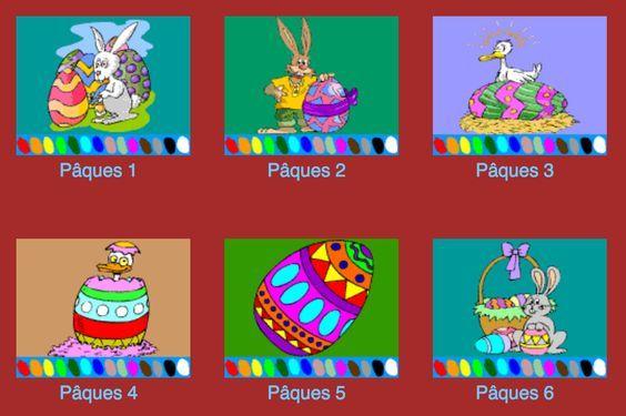 Coloriage de Pâques pour les ateliers au #TNI