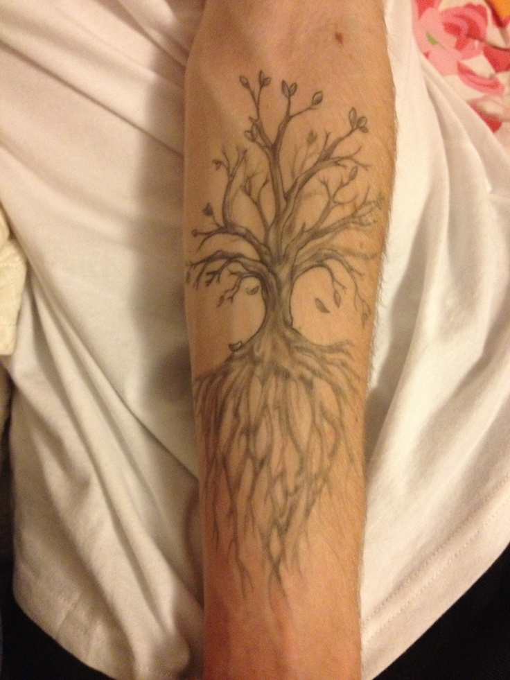 """Tree of Life"" forearm tattoo"