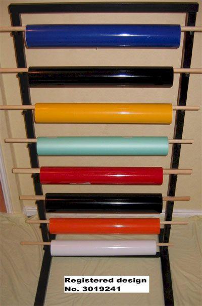 16 best vinyl roll holder images on pinterest for Diy vinyl storage