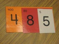 Place value cards. genius!