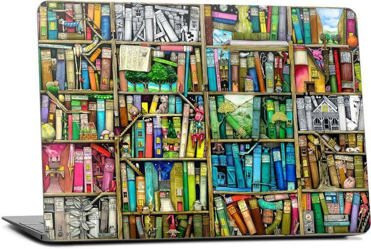 Bookshelf Laptop Skin - Nuvango
