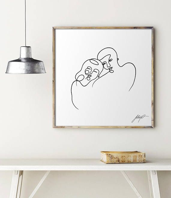 This is a printable format of one of my original acrylic paintings. HIGH QUALITY DIGITAL FILES to brighten up your home or office. Perfect gift for your significant other for Valentines day or Anniversary!  TITLE: Twin Flame  Your printable artwork will show my digital signature in the right