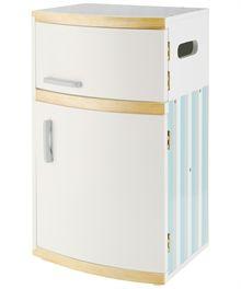 Køleskab i træ -  m/indhold