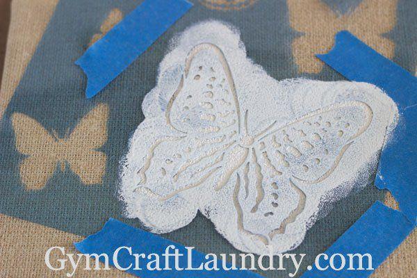 Butterfly Stencil Wall Art