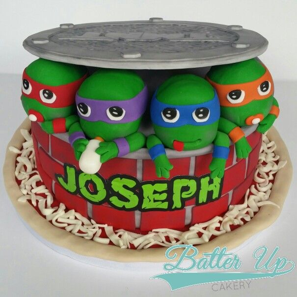 Baby Mutant Ninja Turtle Cake A Different Take On A Popular Design For A Baby  Shower