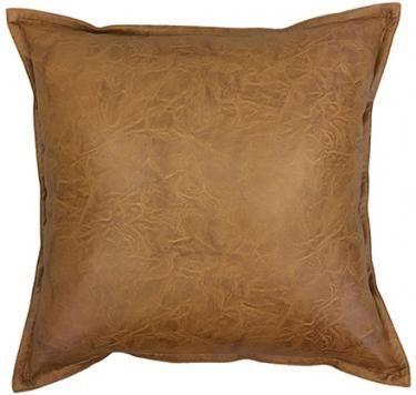 Boston Tan Leather Look Cushion