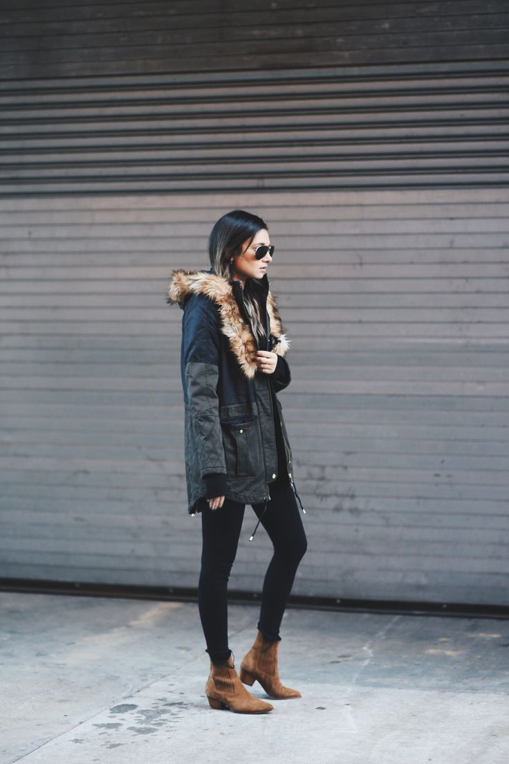 Wearing:Express Coat, Jeans & Sweater I've been loving the look of a rugged parka coat this season, especially when paired with all black. The utilitarian outerwear, featuring a fur (in this case faux) lined hood, is making a comeback on the streets of New York in a bigger way – the bigger the hood the …