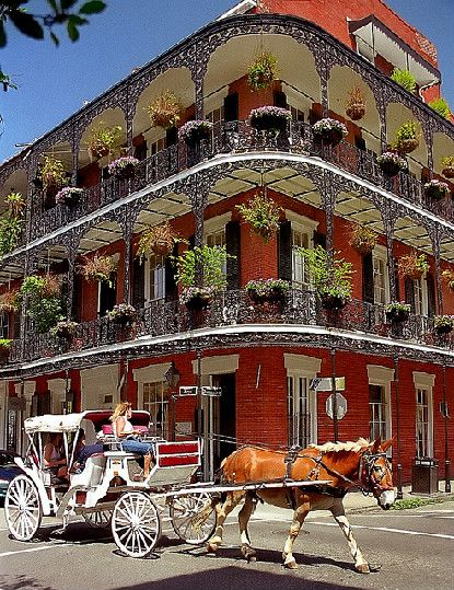 New Orleans. Dr. Miltenberger's Legacy The building on the corner of Royal and Dumaine Streets is probably one of the most photographed houses in the French Quarter.  I've seen its image on dozens of postcards.  The descriptions mention its graceful beauty and what an excellent example of French Quarter architecture it is.