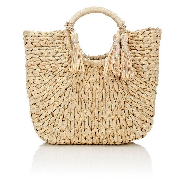 Barneys New York Women's Tasseled Tote Bag ($89) ❤ liked on Polyvore featuring bags, handbags, tote bags, purses, nude, beige purse, beige tote bag, woven tote, tote handbags and tassel purse