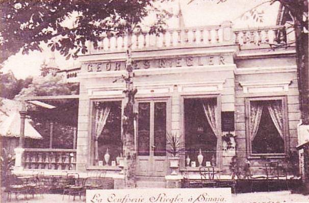 Sinaia - La Confiserie Riegler - 1902