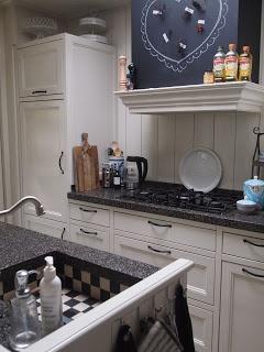 Mooie keuken, vooral de wasbak!