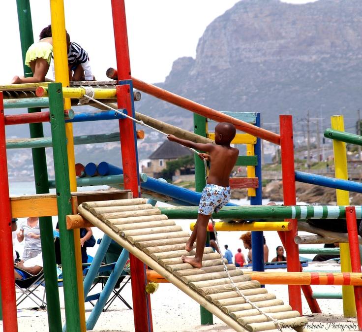 """Climb"" Before climbing a mountain, everyone needs a little bit of practice.  #playground #mountain"