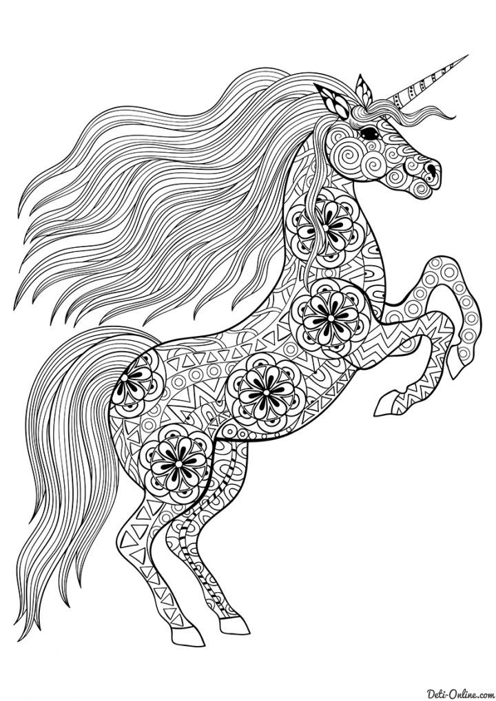 Coloring For Adults Advanced 16 P Jpg 720 1 018 Pixels Unicorn