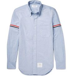 Thom Browne - Slim-Fit Grosgrain-Trimmed Cotton Oxford Shirt $450 Size 3