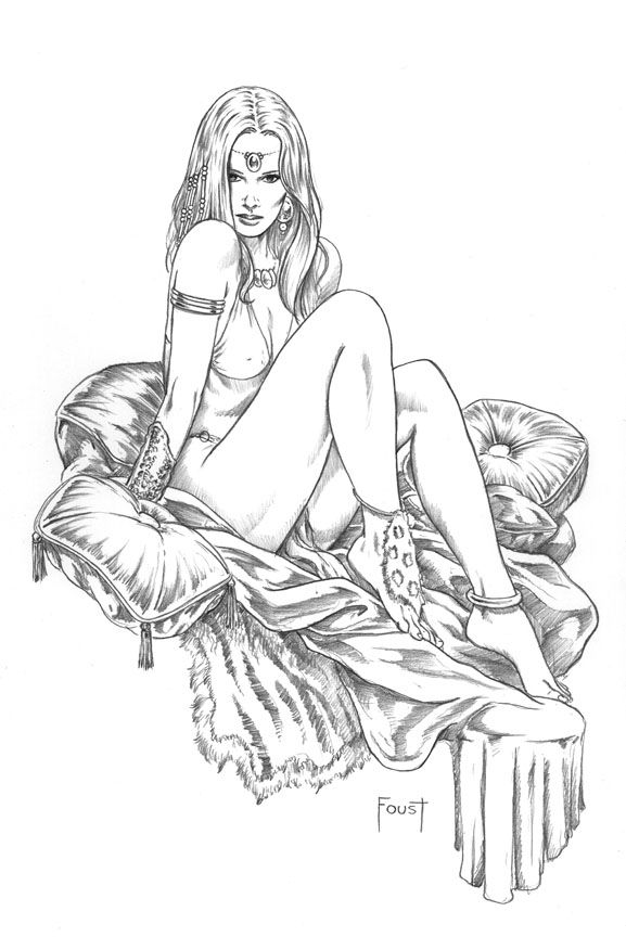 pencil drawings of nude submissive girls
