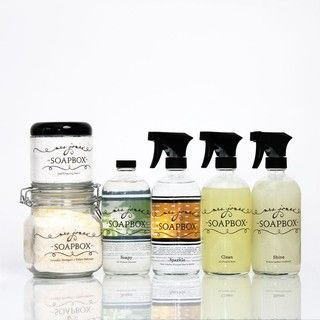 Ecofriendly Household Cleaning Kit and Laundry Soap Jar by Mrs. Jones Soapbox - contemporary - cleaning supplies -  - by Etsy