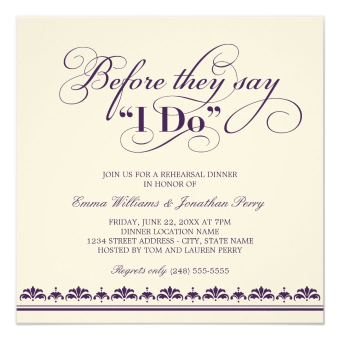 2612 best rehearsal dinner invitations images on pinterest, Wedding invitations