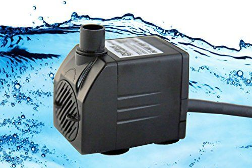 Tiger Pumps 120GPH Submersible Water Pump, Pond Pump, Aquarium Pump, Fish Tank Pump, Fountain Pump With 120 GPH Pump Excellent Powerheads For Aquariums Hydroponics Air Pump With 5 Feet Power Cord * Continue to the product at the image link.