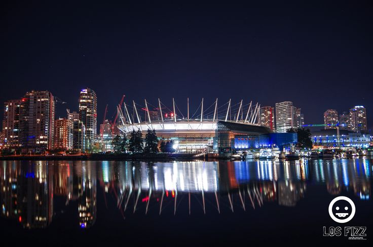 BC Place From  False Creek, Vancouver, British Columbia, Canada. Pentax K3. October 2015. Shot by Los Fizz of http://www.losfizz.com/photography