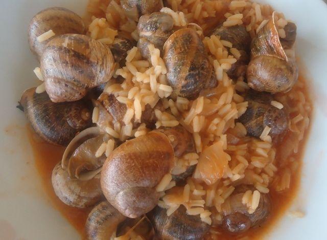 Σαλιγκάρια με ρύζι