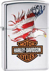 Zippo Lighter Harley-Davidson Flag/Eagle