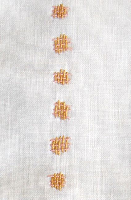 Embroidery: Two Color Technique - Knitting Crochet Sewing Embroidery Crafts P...