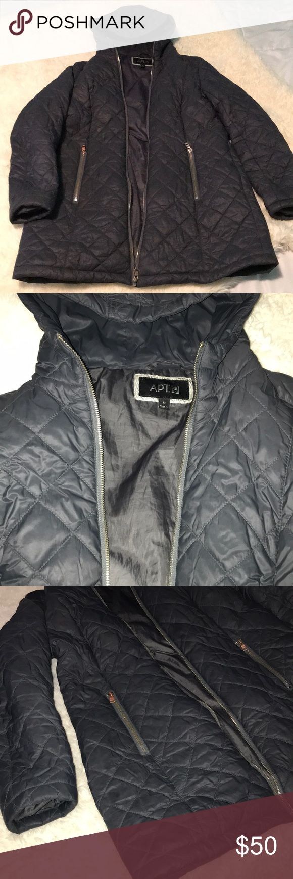 Apt 9 Dark Gray Coat Super comfy and warm winter coat by Apt Size M but  fits S as well! No tears or damage. (Not North Face, just for exposure) North  Face ... 4c5dac38eb24