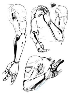 Genos arm reference - One Punch Man. Because robot arms are hard to draw.