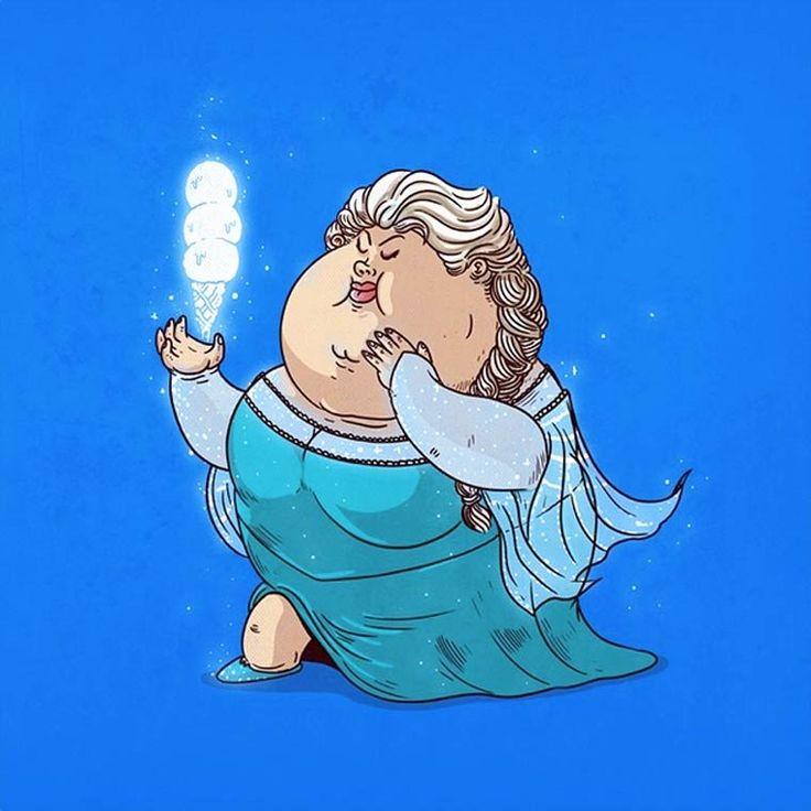 Après une excellente première série (Fat Pop Culture – 26 Illustrations d'Alex Solis), voici une nouvelle sélection des personnages obèses de l'illustr
