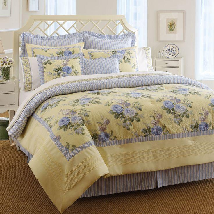 LauraAshley Caroline Comforter Set. floral yellow