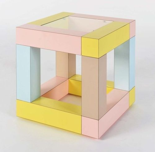 Ettore Sottsass    Mimosa side table, 1984 / #pastel