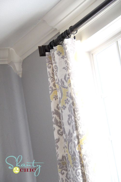 Must make..Can't wait!Decor Ideas, Curtains Rods, Curtains Diy Drapes, Curtains Fabrics, Diy Windows, Sewing Curtains, Curtains Ideas, Diy Curtains, Bedrooms Curtains