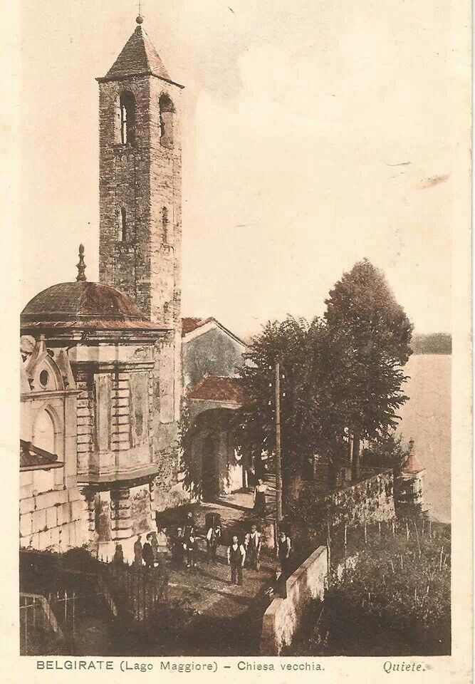 La Chiesa Vecchia di #Belgirate nel 1926 ( #Verbania #Piedmont #Italy )