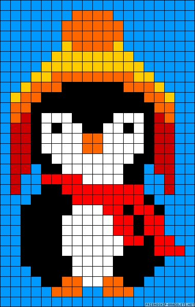 Winter penguin perler bead pattern  Also, this penguin will now be called Jayne Cobb. #firefly