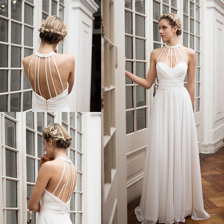 vestido de novia halter escote corazón · Halter Neckline Wedding Dress - www.santoencanto.cl/vestidos-de-novia/