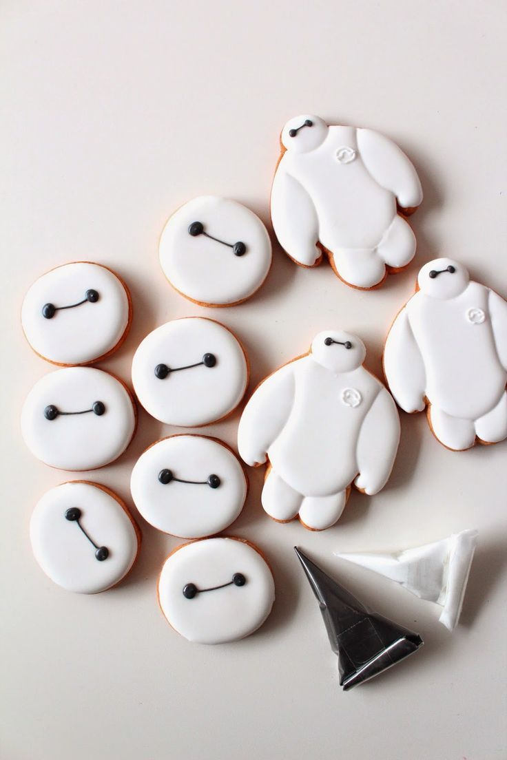 Sweeten your day. Baymax icing cookies! ベイマックスのアイシングクッキー ○ー