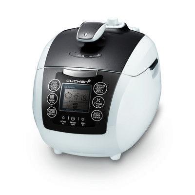 Cuchen 6-cup Rice Cooker, Grey, pressure cooker