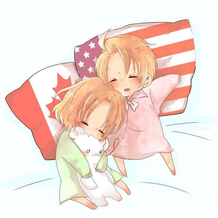 SO CUTE North American brothers Canada America Hetalia