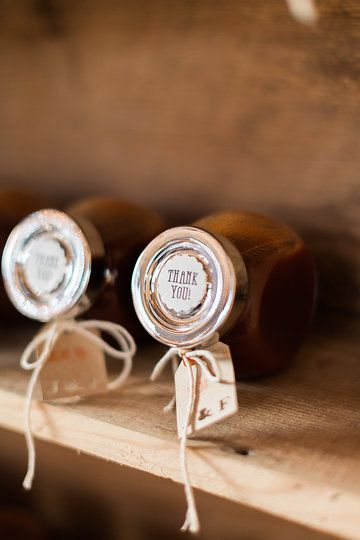 Wedding Favours - Homemade BBQ Sauce, Ikea Spice Jar, Custom Initial Cricut Lables with Initials, and Thank You Stickers Photo from Jess & Francis collection by 1486 Photography