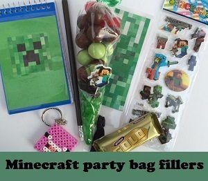 Minecraft themed party bag filler ideas
